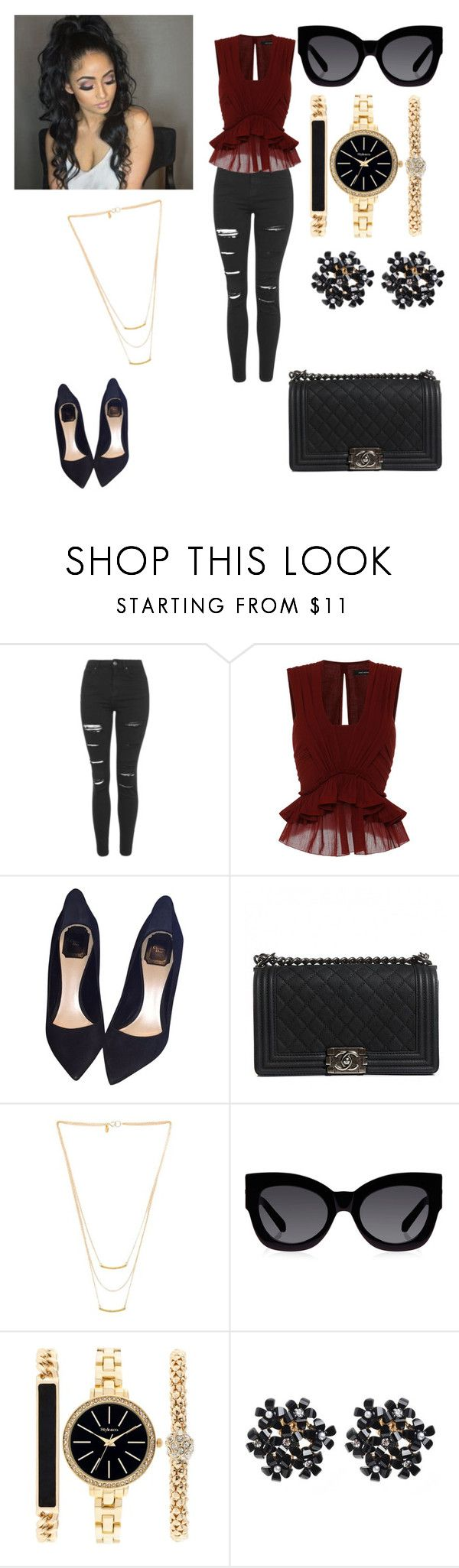 Un toque para resaltar by olgasanchez09 on Polyvore featuring moda, Isabel Marant, Topshop, Christian Dior, Chanel, Style & Co., Gorjana and Karen Walker