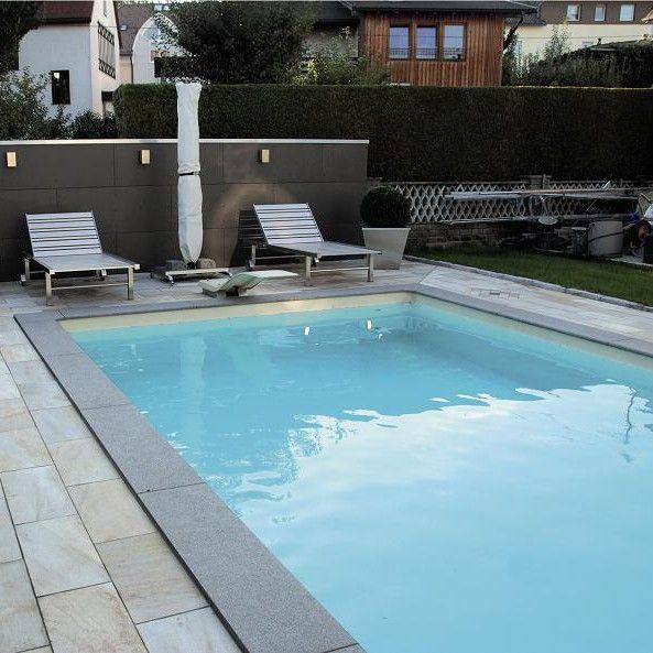Beckenrandsteine Poolsana Padang Dark Fur Rechteckbecken Pool Schwimmbader Hinterhof Styropor Pool