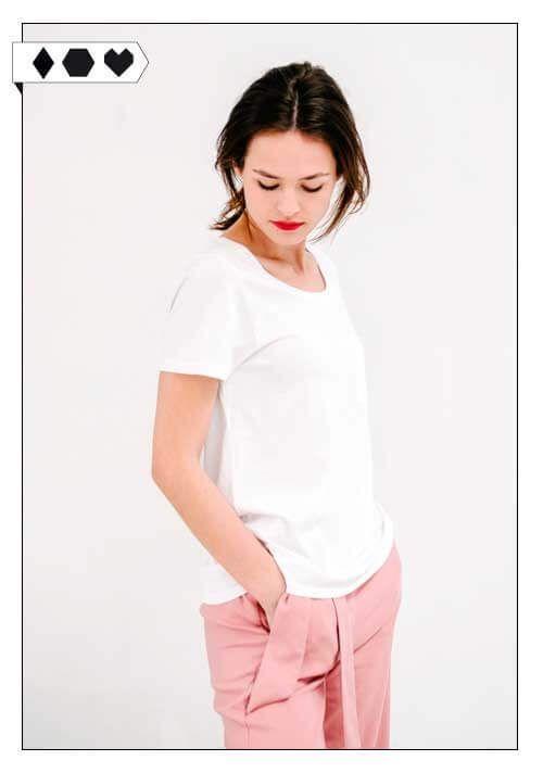 Funktionschnitt T Shirt auf Slow Fashion und Fair Fashion Blog sloris aus Hamburg – Slow Down and Fashion up!  Das Shirt ist unter fairen Bedingungen in Portugal hergestellt.