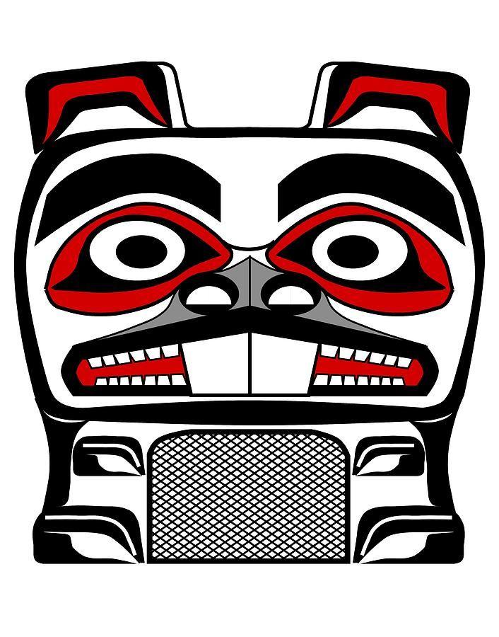 Beaver Totem by Fred Croydon - Beaver Totem Drawing - Beaver Totem ...