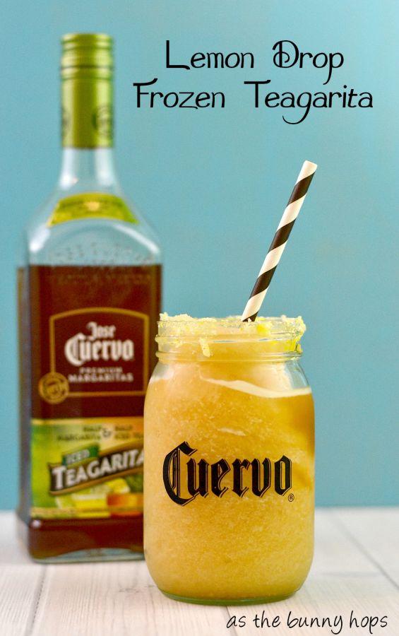 Easy and fun lemon drop Jose Cuervo Iced Teagarita™ recipe! #CuervoTeagarita