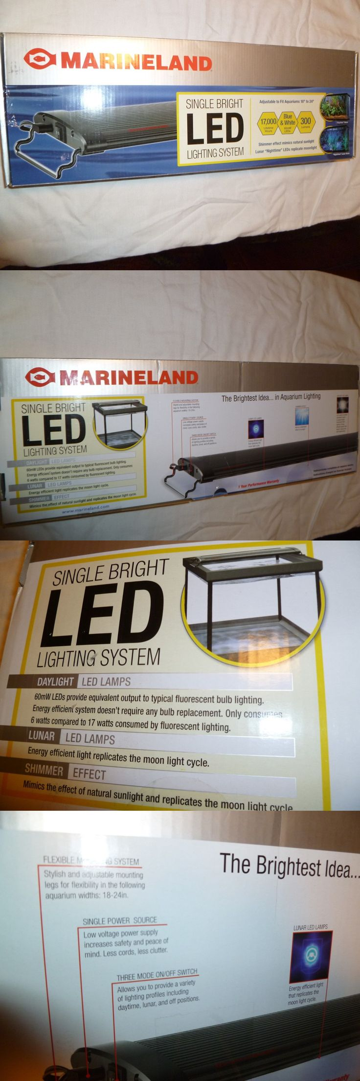 Animals Fish And Aquariums: Marineland Aquarium Led Lighting Blue And White Single Bright Light 18 To 24 In -> BUY IT NOW ONLY: $35 on eBay!