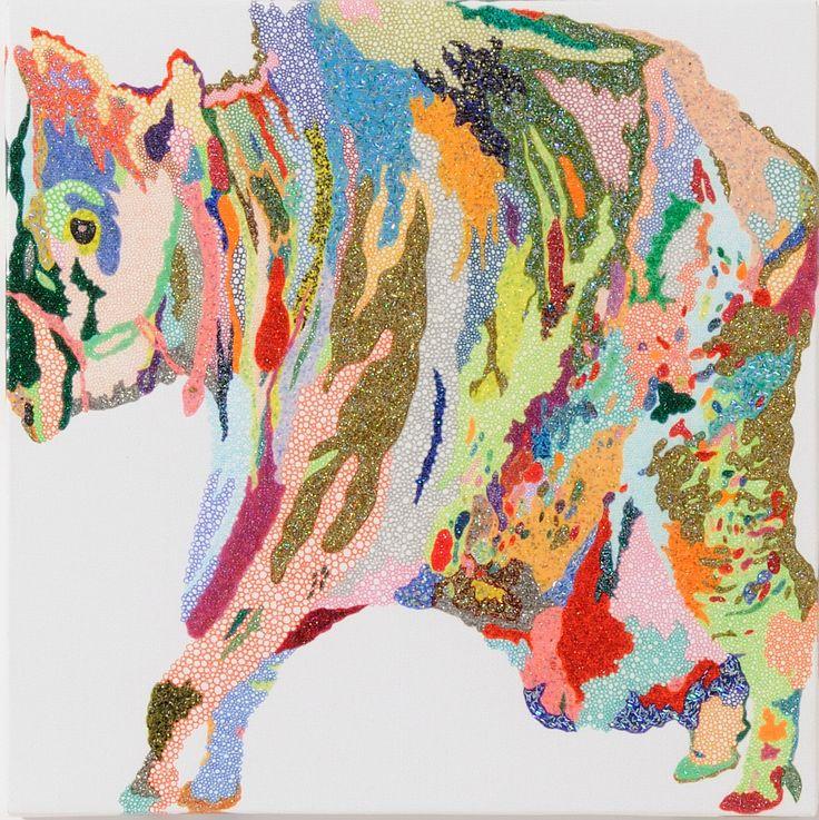 牛牛詰め / Tomoaki TARUTANI #ART #Contemporary ART #POP ART #Mandala #曼荼羅