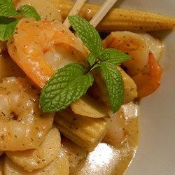 Recipe photo: Thai green prawn curry