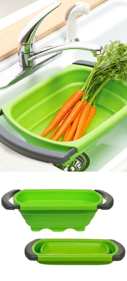 Collapsible Over-the-Sink Colander #cooking #kitchen #gadgets
