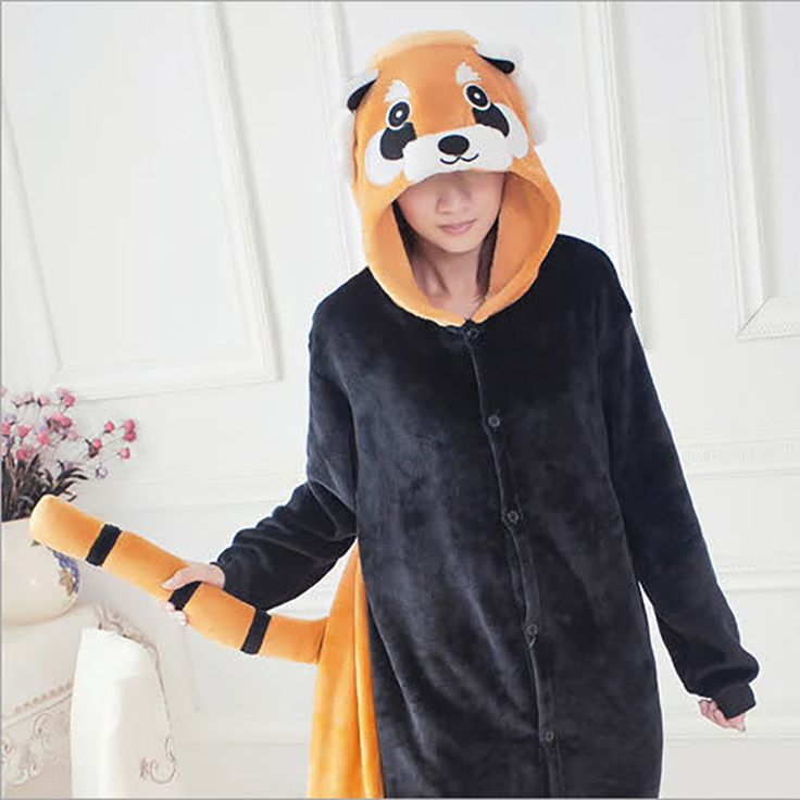 New Fashion Women's Raccoon Women Pajama Set Full Sleeve Hooded Pajama Sets Footed Pyjamas For Adults Funny Pajamas Women