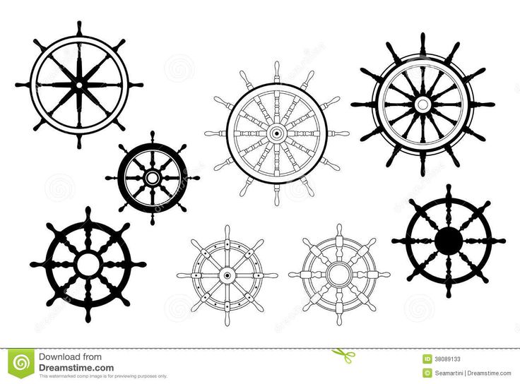 boat steering wheel black and white - Google Search