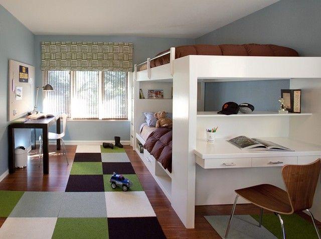 jugendzimmer gestalten junge braun gr n wei hochbetten hannah posts 2 bett etagenbett und. Black Bedroom Furniture Sets. Home Design Ideas