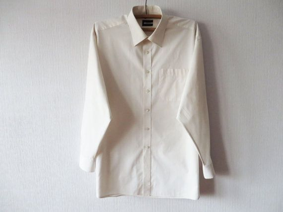 219.78 kr. Mens Creamy White Classic Shirt Pierre Cardin by LettersInMyPocket