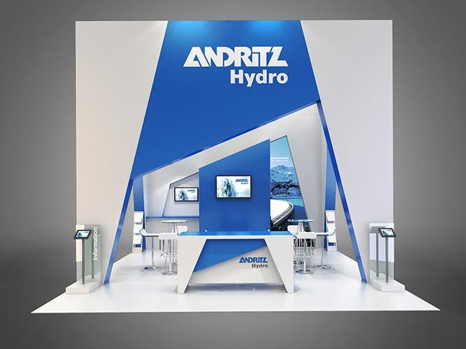 Colour render for Andritz Hydro exhibition stand.