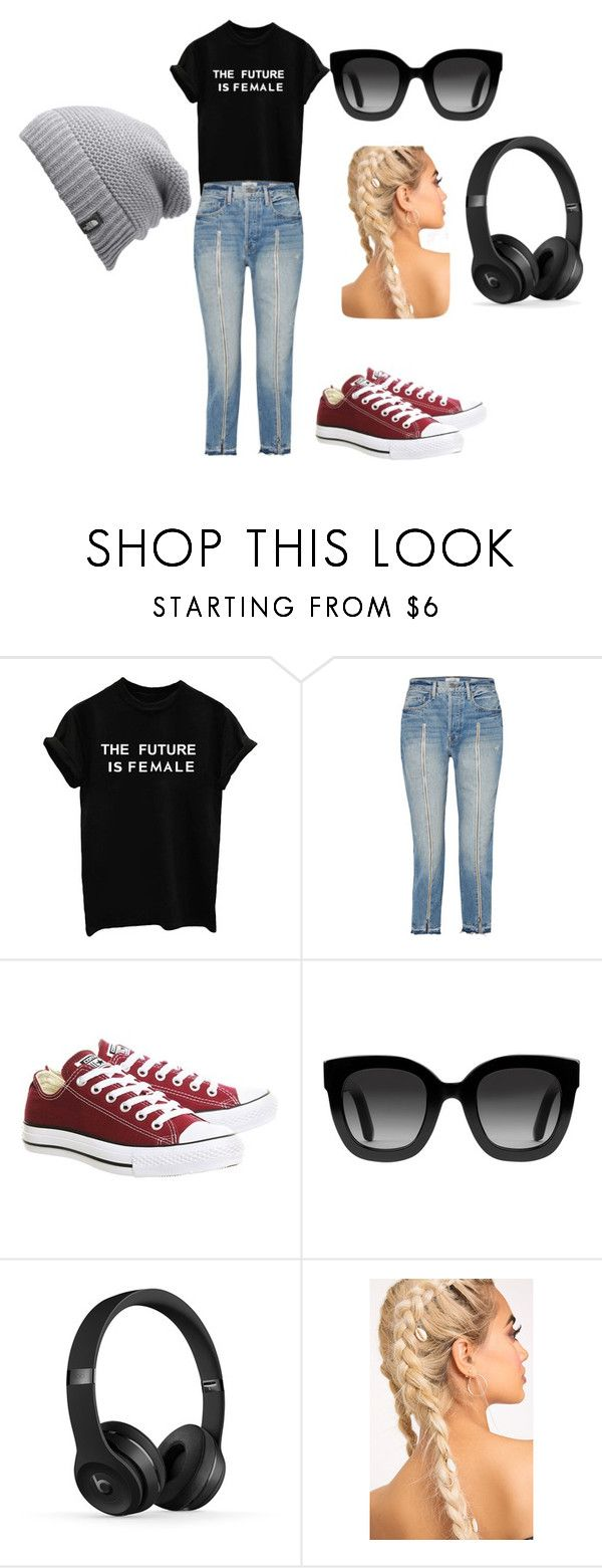 """Comfy"" by pagelfairykind on Polyvore featuring Frame, Converse, Gucci, The North Face and SHOWYOURCOMFY"