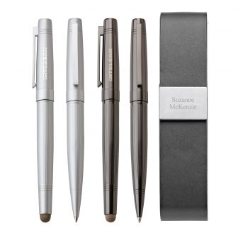 Spider Pen & Rollerball/Stylus Set |  Brass set includes G3142 Spider twist-action ballpoint pen and I1...