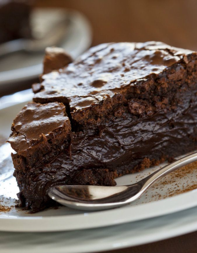 Ooey Gooey Chocolate Cake - you just add the ingredients to a boxed cake mix and end up with this fudgy deliciousness!