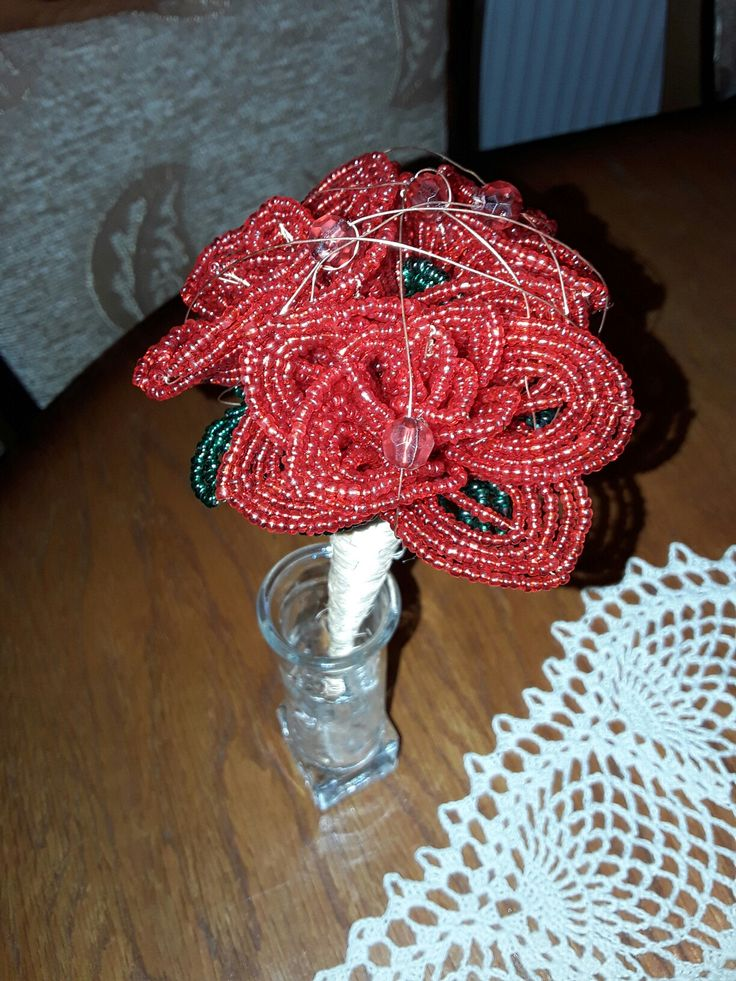 #mini #bead #rosebouquet