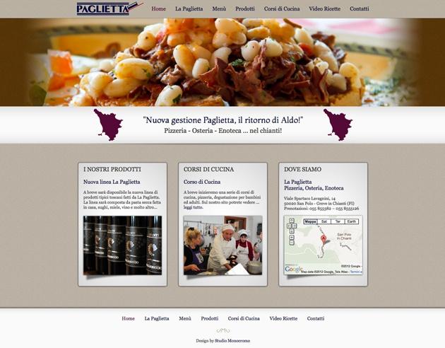Progettazione e realizzazione del sito web La Paglietta.  Studio Monocromo ha realizzato anche il servizio fotografico.