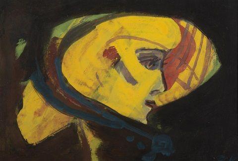 Yellow Head by Pravoslav Kotík  Pravoslav Kotík (1889, †1970 v Praze) byl český malíř a grafik.
