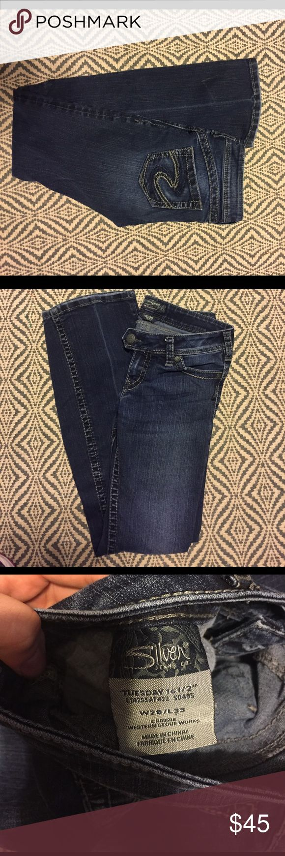 Women's Silver Dark Jeans in Tuesday Great condition W28/L33 Silver Jeans Jeans