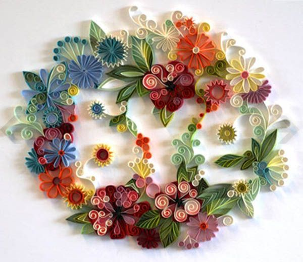 floral quilling patterns