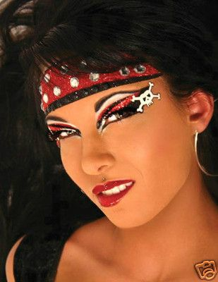 Xotic Eyes Hook Halloween Accessories Costume Female Party Pirate Girl Make-Up | Halloween ...