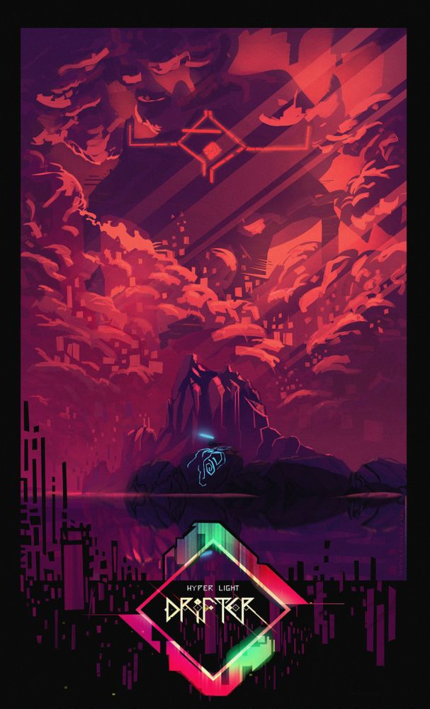 Hyper Light Drifter Art Print By Anatofinnstark X Small Art Indie Game Art Pixel Art