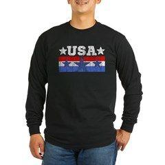 U. S. A. Long Sleeve T-Shirt