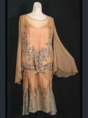 1920's evening fashion, maybe you were wearing this in the Cloakroom...