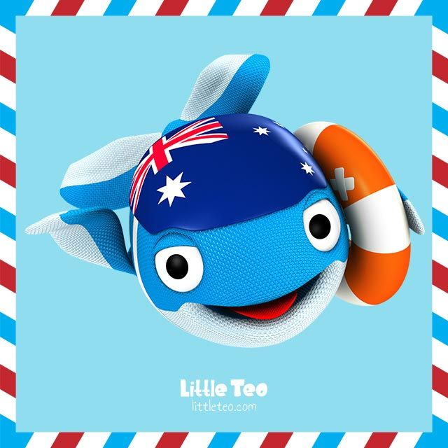Australian Whale lifesaver. Visit LittleTeo.com to see more.