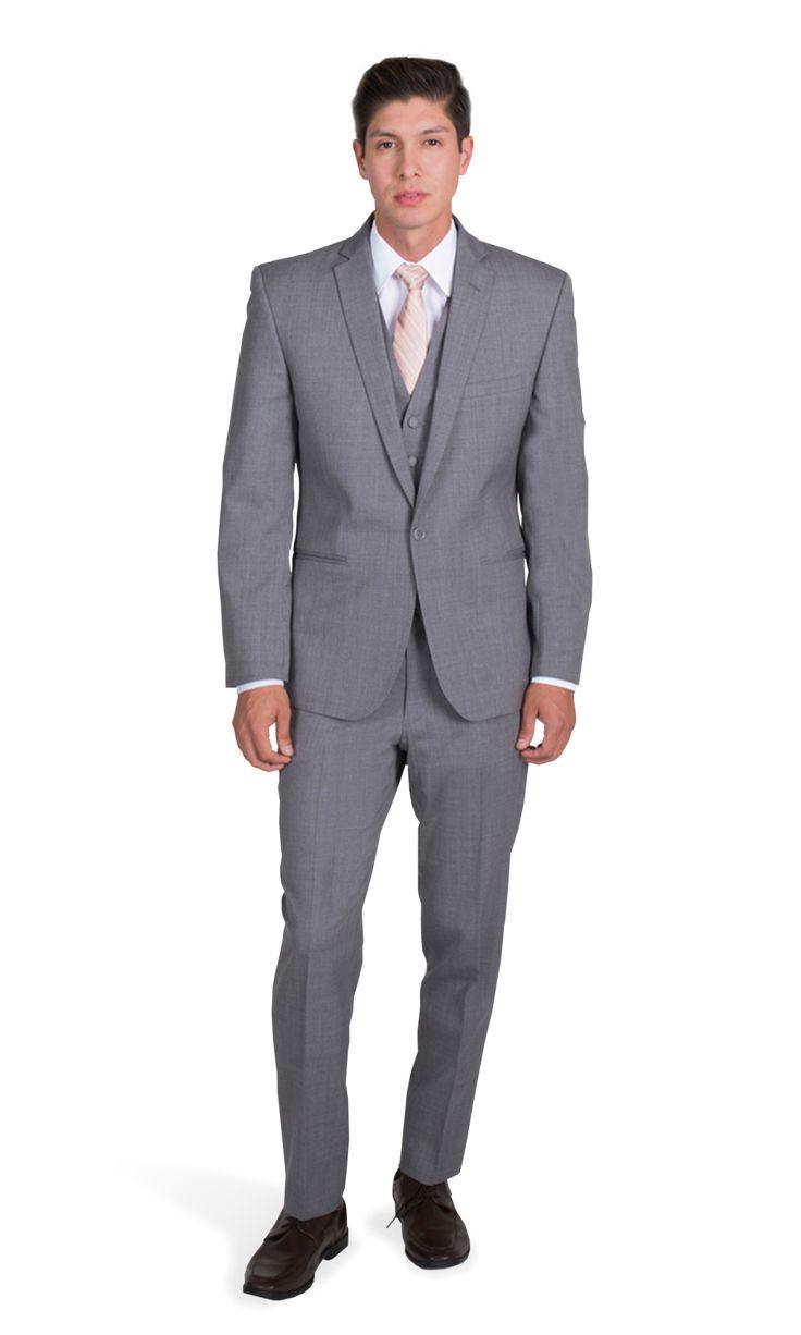 Gray Notch Lapel Suit