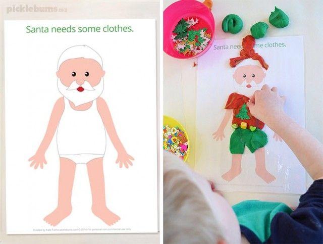 Personagens de Natal inacabados são o tema desse material. A proposta é completá-los com papel ou massinha de modelar!!!Identificar as partes faltosa...
