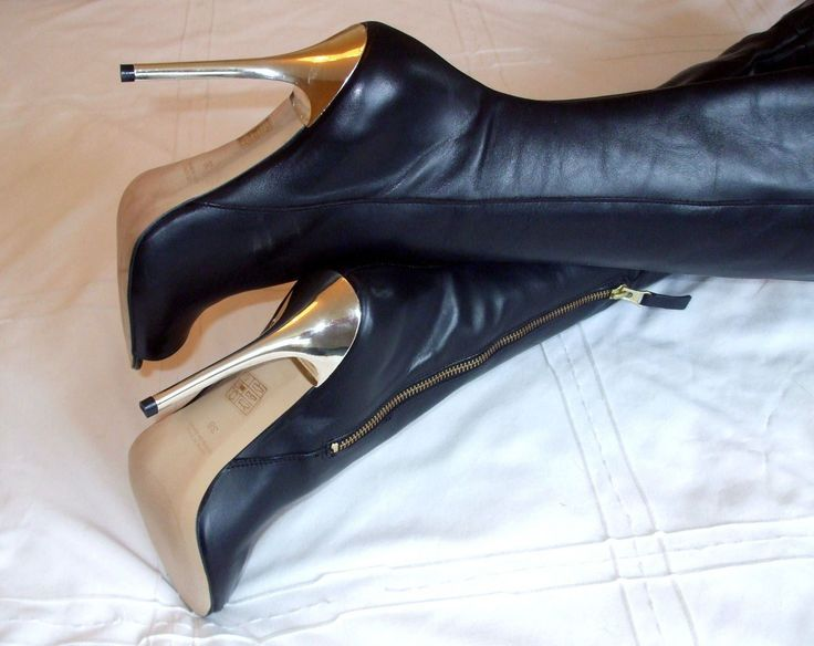 Superb High Heel Stiletto Glossy Leather Peeptoe Overknee Thigh Boots U6 39 8.5 | eBay