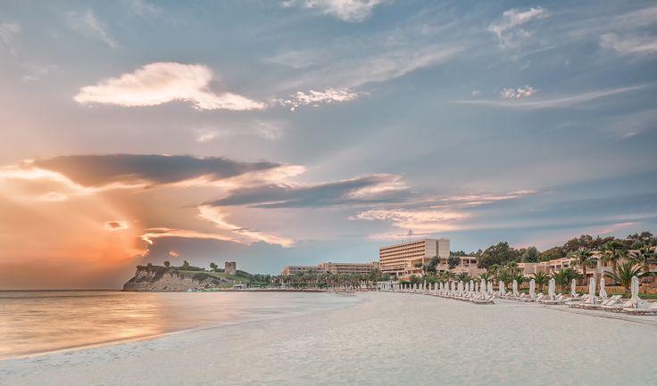 Enjoy the sunset from Sani Asterias Beach. Location: Halkidiki, Greece