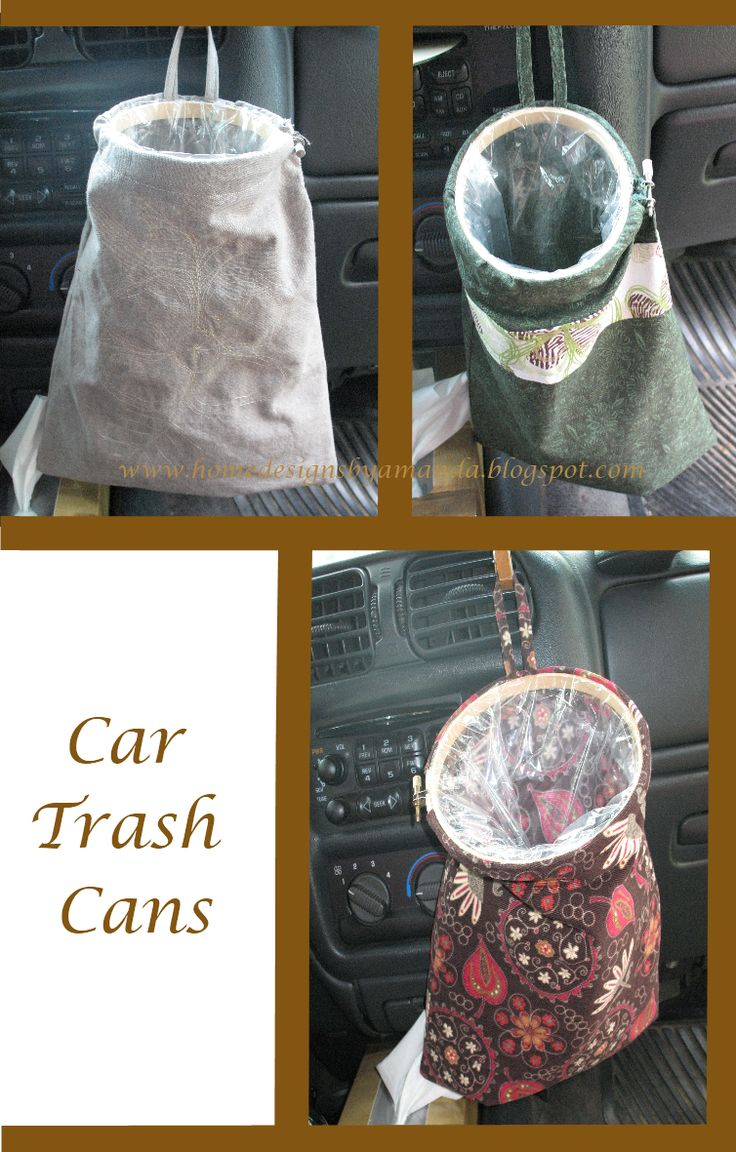 can be really HARD! A while ago I saw a tutorial for some car organization items...one of those items was a trash 'can'...which is more a ba...