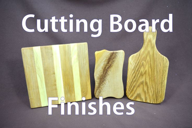 Wood Cutting Board Finishes