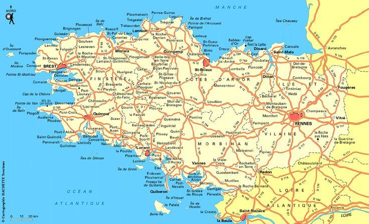 Carte Bretagne : Plan Bretagne - Routard.com