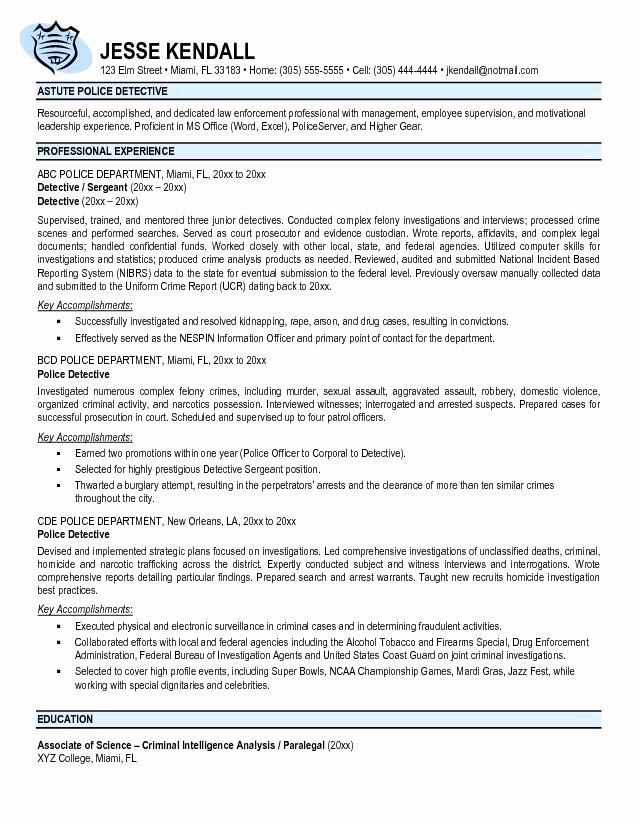 Entry Level Law Enforcement Resume New Free Police Ficer Resume Templates In 2020 Police Officer Resume Job Resume Samples Sample Resume