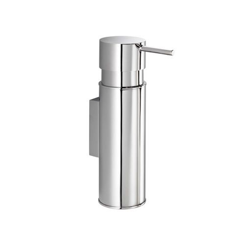 Soap Dispenser, Gedy 2086, Wall Mounted Round Chrome Soap Dispenser 2086
