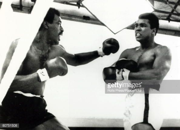Sport Boxing Heavyweight Bout at Croke Park Dublin pic 19th July 1972 Muhammad Ali stopped Al 'Blue' Lewis in 11 rounds Muhammad Ali looks confident...