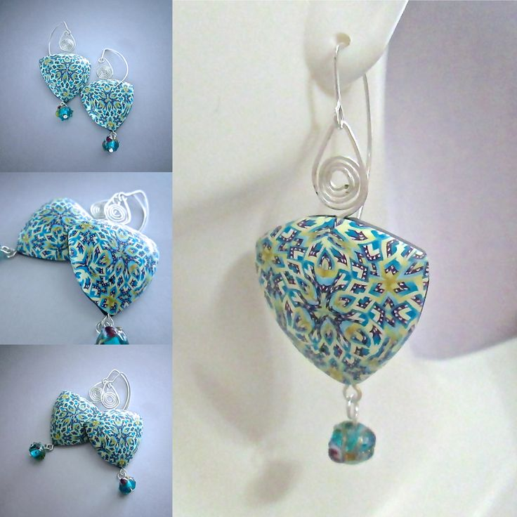 Looking for a special piece of jewelry? These earrings are artisan quality - one of a kind and signed with my signature cane. Now available on Etsy! https://www.etsy.com/listing/276819294 #debhart #polymerclay #etsy #earrings #handmade #artisanjewelry
