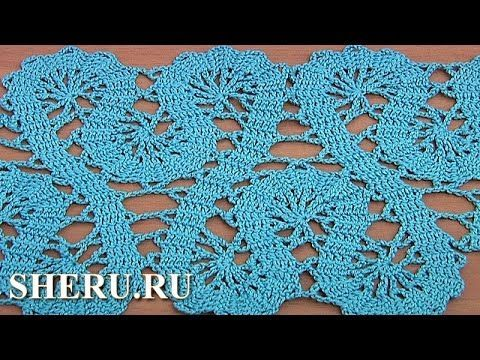 Crochet Lace of the Buges Tutorial 19 Part 1 of 2 Кайма или лента в техн...