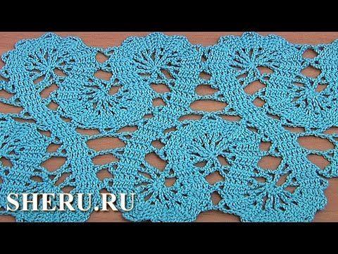 Crochet Lace of the Buges Tutorial 19 Part 1 of 2 Кайма или лента в техн...
