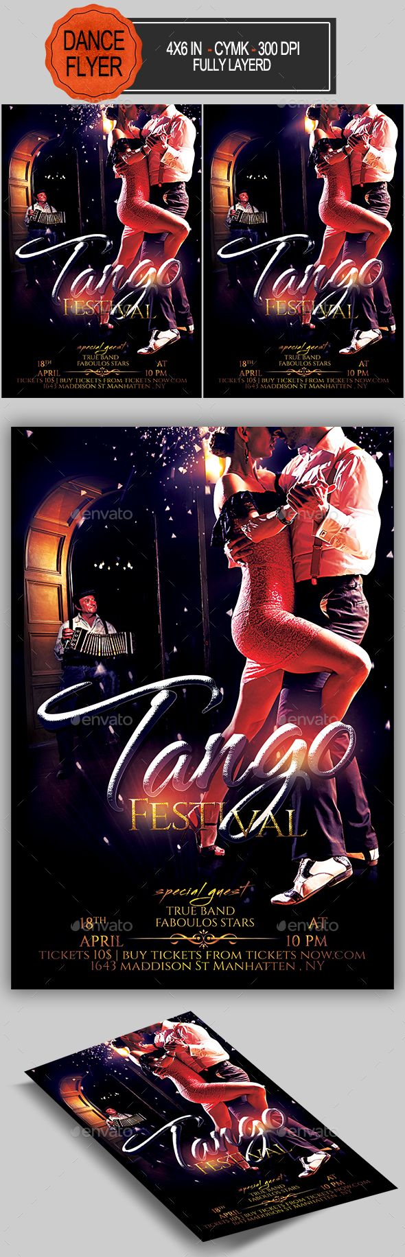 Tango Flyer  -  PSD Template • Only available here! ➝ https://graphicriver.net/item/tango-flyer/17192342?ref=pxcr