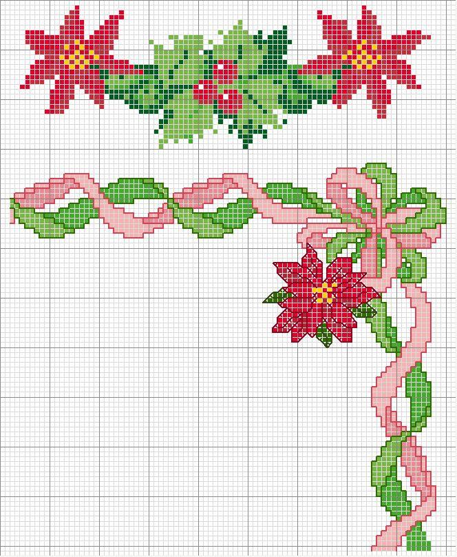 Schema punto croce Fiore Stella 1