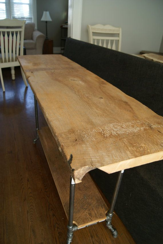 Rustic Brown Barn Board Entry Table by RocksandRootsAccents