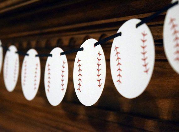 Bannière de baseball Baseball Garland par TheSweetSimpleThings