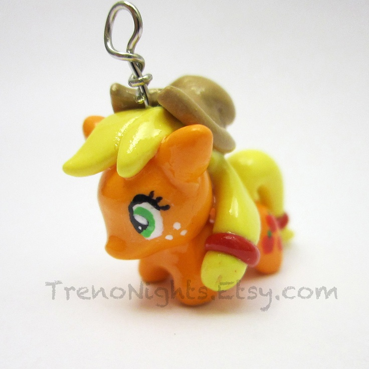 My Little Pony Friendship is Magic Apple Jack charm- necklace, keychain, or cell phone charm. $15.00, via Etsy.
