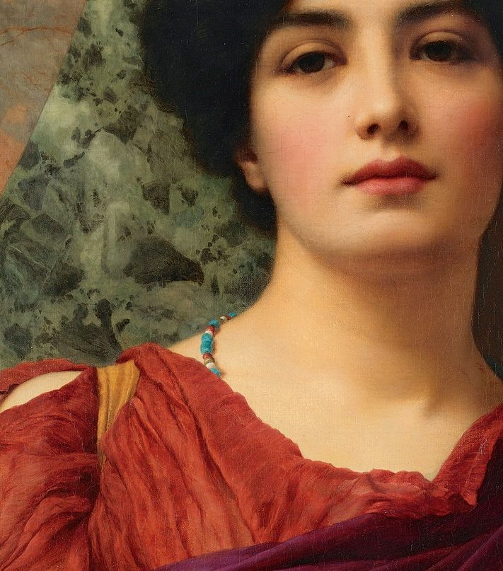 """ ""Contemplation"" (1903) (detail) by John William Godward (1861-1922). """