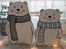 2 Eisbären, SÜSSE WINTERDEKO
