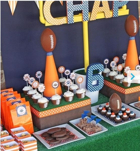22 best images about sports themed birthday party on pinterest football kids birthday party - Cuisine soort ...