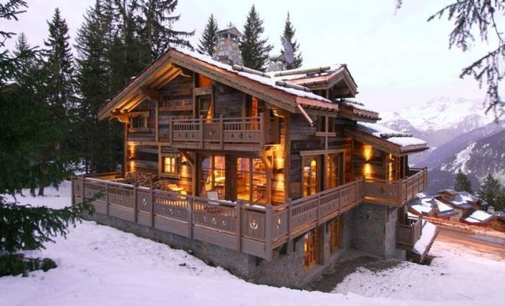 Chalet-style house