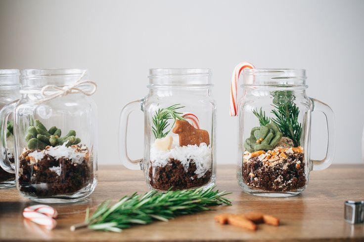 Gingerbread Terrariums - What a CLEVER idea!! So cute! These would make great gifts!